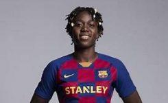 Nigeria's Oshoalacelebrates maiden Spanish Primera Iberdrola title with Barcelona