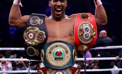 Nigerian-born Anthony Joshua knocks out Pulev to retain heavyweight titles
