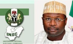 President Buhari swears in Yakubu as INEC chairman for second term